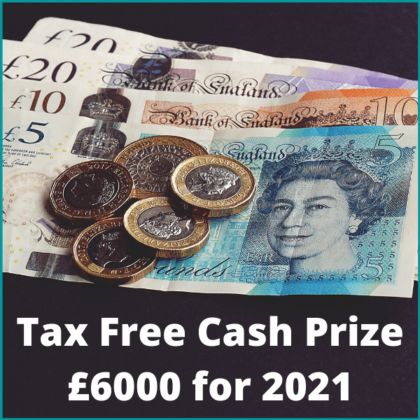 Luxury Prizes competitions and UK Raffle competitions,Tax-free-cash-prize-6000-for-2021