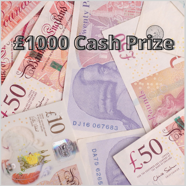 winner of £1000 cash prize