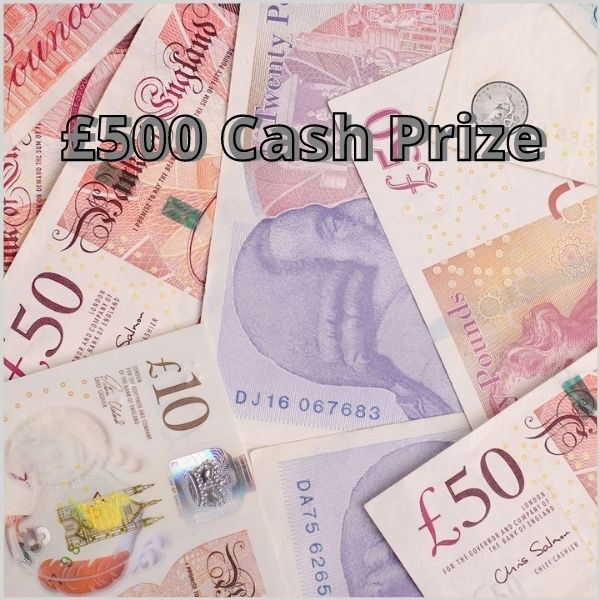 £500 cash prize new